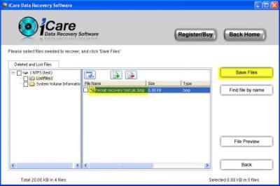 How to Recover deleted files hard drive with free hard drive data recovery program named iCare Data Recovery 3.6