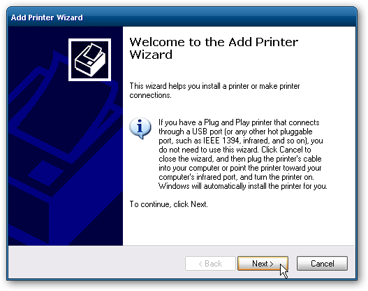 How to share printer between 7 and Windows XP computers