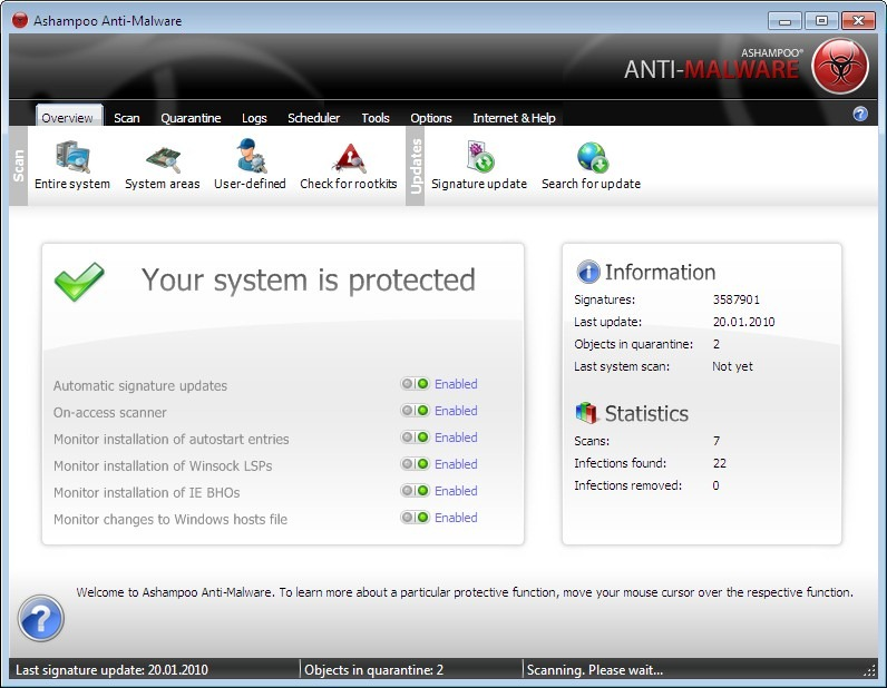 Ashampoo Anti-Malware free 180 days license