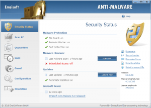 Emsisoft anti-malware 5.0 free 1 Year serial 2