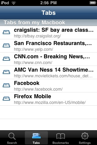 Firefox Home for iphone 2