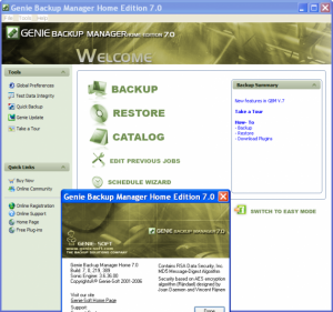 Genie Backup Manager Home edition free
