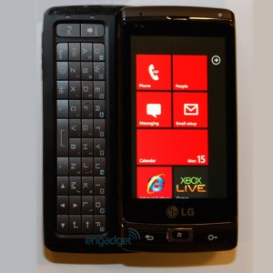 LG Panther GW910 with Windows Phone 7