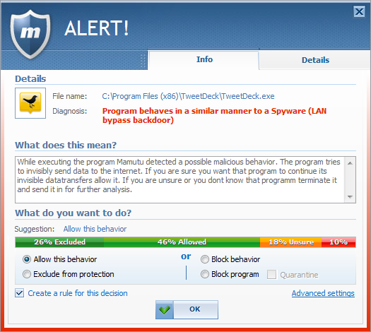 Emsisoft Mamutu 3.0: 100% behavior based malware blocking