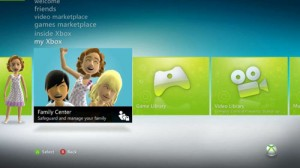 New Xbox 360 dashboard 1