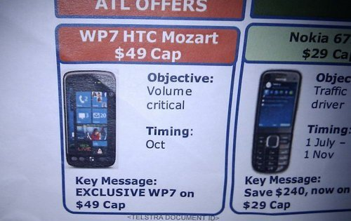 HTC Mondrian and Mozart running Windows Phone 7 leaked