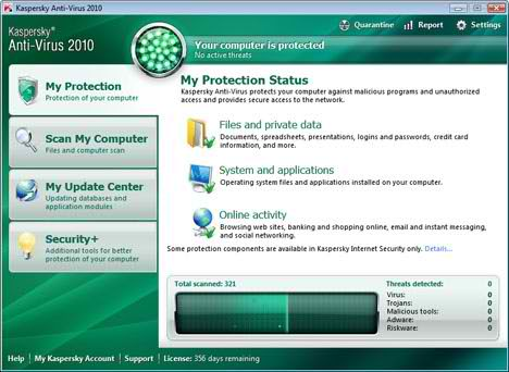 kaspersky rescue disc 2010 GUI