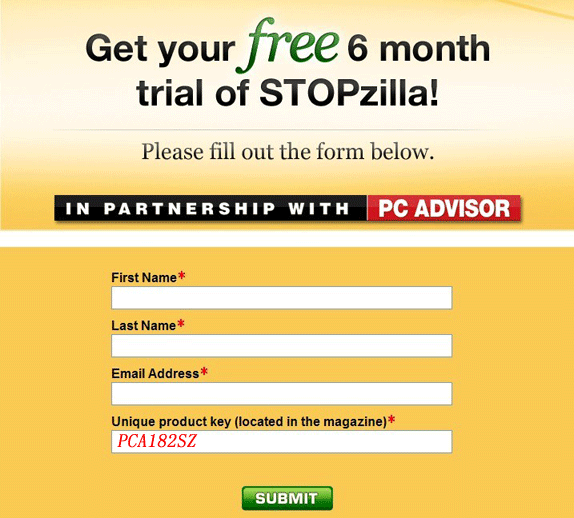 stopzilla 5.0 free  6 month registration key