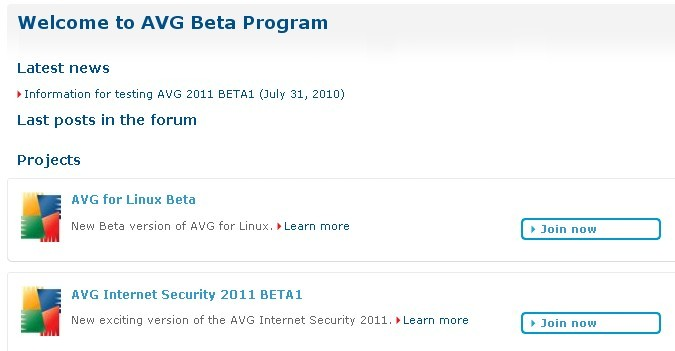 AVG Internet Security 2011 Beta