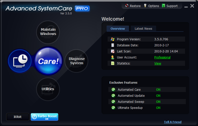 Advanced SystemCare Pro license serial free