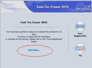 East-Tec Eraser 2010 registration