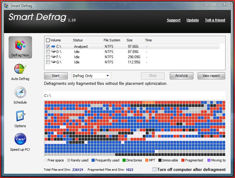 smart defrag for vista free download