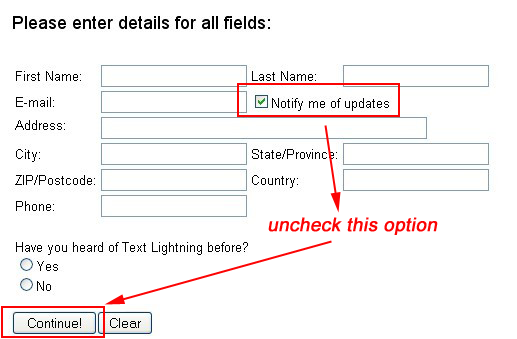 Text Lightning license key for Free