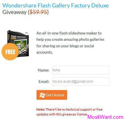 Wondershare Flash Gallery Factory Deluxe Giveaway