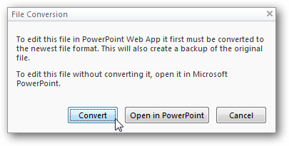 convert files with office web app