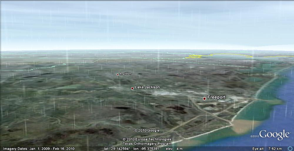 real-time weather in Google Earth