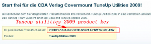 tuneup utilities 2009 product key