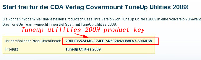 tuneup utilities product key
