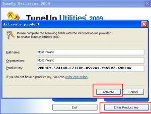 tuneup utilities 2009 product key free