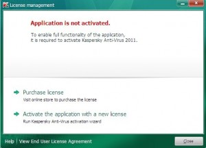 Activate Kaspersky 2011 step2