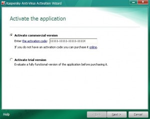 Activate Kaspersky 2011 step3