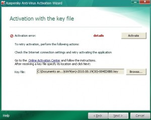 Activate Kaspersky 2011 step5