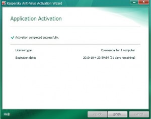 Activate Kaspersky 2011 step6