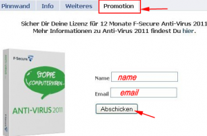 Free F-Secure AntiVirus 2011 1 year License Key