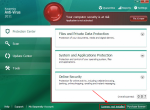 Open Kaspersky 2011 License Manager