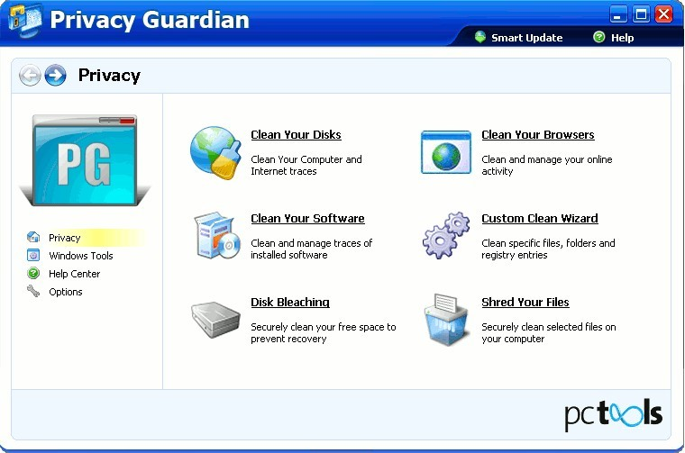 Download PC Tools Privacy Guardian