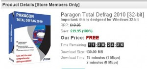 Paragon Total Defrag 2010 Special Edition Free Serial Key
