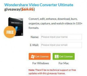 Wondershare Video Converter Ultimate Giveaway