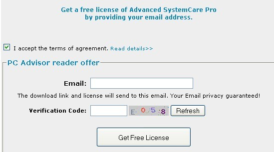 Advanced SystemCare Pro License Key for free