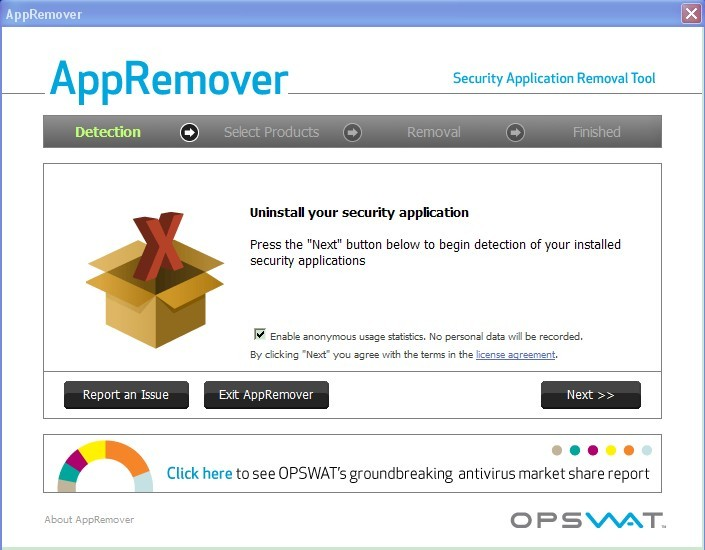 Uninstall and Remove antivirus software