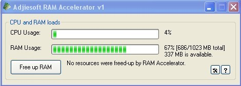 Before Optimize RAM