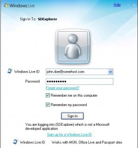 sign into your Windows Live account