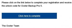 Ocster Backup Pro 5 license Serial code for free