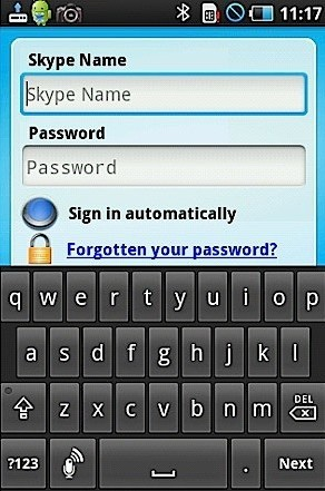 Skype App for Android phones