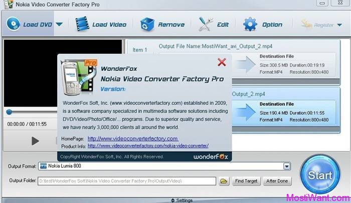 WonderFox Nokia Video Converter Factory Pro