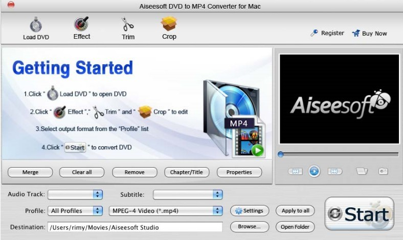 Wondershare DVD to MP4 Converter for Mac