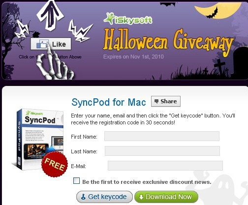 iSkysoft SyncPod For Mac Registration Code Free