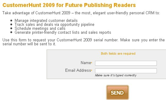 Customer Hunt 2009 Serial Number For Free: Sales and Customer Management software