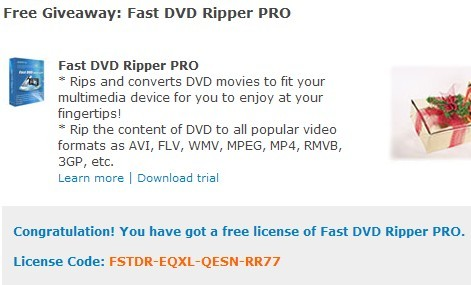 Fast DVD Ripper Pro Free License Code