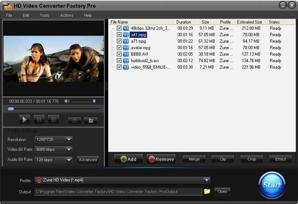 HD Video Converter Factory Pro 3