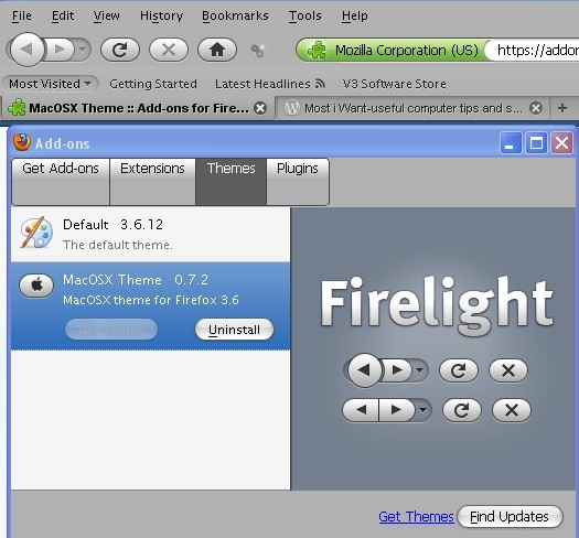 Mac OS X Leopard Style Theme For Firefox