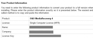 O&O MediaRecovery V4 Software Free Serial License Key