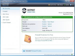 Outpost Internet Security Suite 7