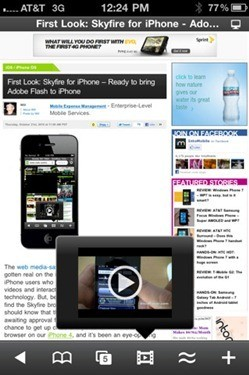 Download Skyfire App To Watch FLASH Videos On iPhone And iPad