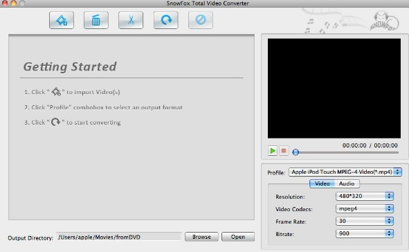 SnowFox DVD to iPhone Converter For Mac