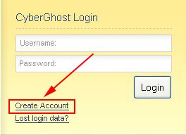 create a Cyberghost VPN free account
